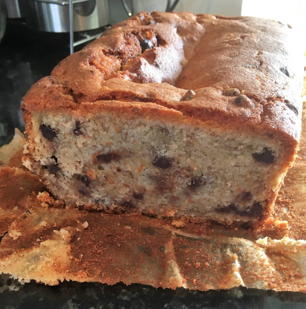 livingcoeliac, coeliac, gluten free, living coeliac, glutenfree, baking, recipe, how to make, banana, chocolate, banana and chocolate loaf, gluten free banana and chocolate loaf,