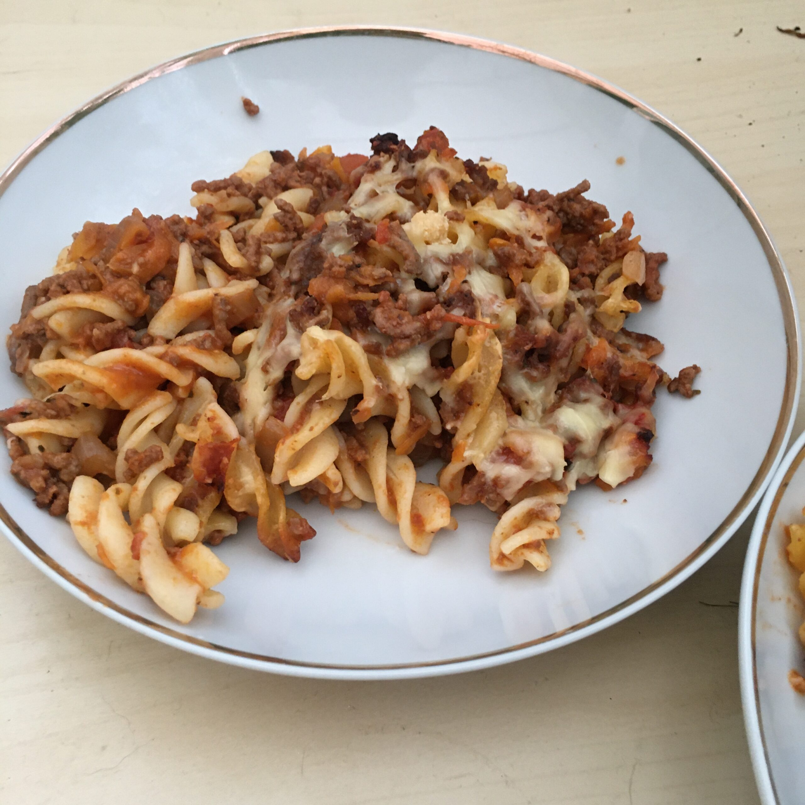 My Easy Gluten and Dairy Free Bolognese Bake